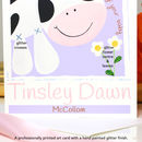 Personalised Farm Cow New Baby Card