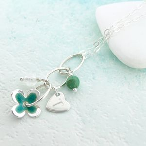 Personalised Enamel Flower Pendant