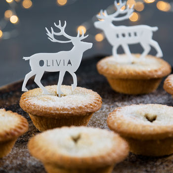 Personalised Arctic Animal Mince Pie Toppers