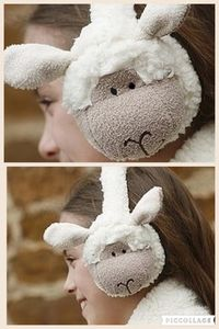 Sheepy Ear Muffs - easter clothing & fancy dress