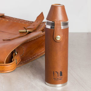 Luxury Leather Hunter Flask - lust list for him
