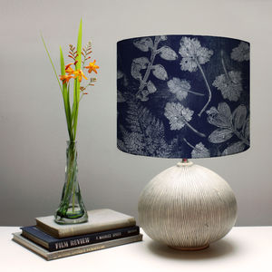 Forest Textures Botanical Lampshade - bedroom