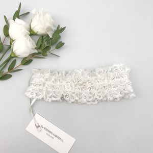 Lace Wedding Garter With Pearls - lingerie & nightwear