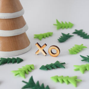 Wooden Xo Hugs And Kisses Earrings