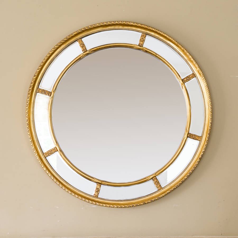 Lucia round decorative mirror by decorative mirrors online for Fancy mirror