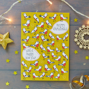Robins Christmas Card Pack - christmas cards: packs