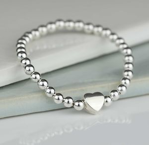 Tilly Childrens Silver Heart Bracelet - wedding jewellery