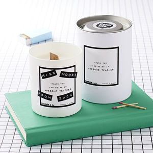 Personalised 'Awesome Teacher' Soy Wax Candle - gifts for teachers