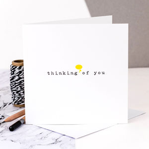 Sympathy Card; 'Thinking Of You' - summer sale