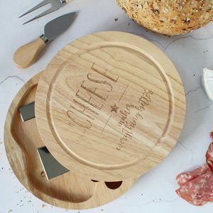 Cheeseboard With Knives - cheese boards & knives