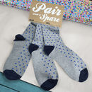 Funny Sock Gift 'Pair And A Spare' Set Of Three
