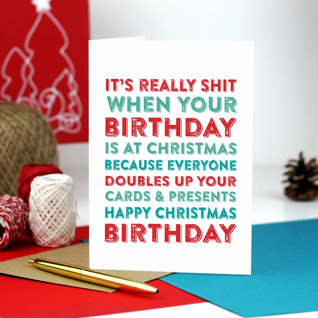 Merry Christmas Birthday Greetings Card By Do You Punctuate