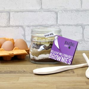 Belgian Millionaire's Brownies Baking Jar - make your own kits