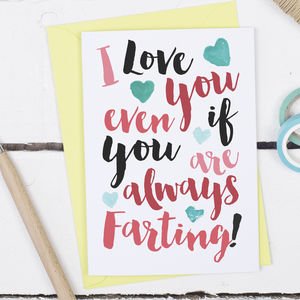 Valentine's Always Farting Funny Card - valentine's cards