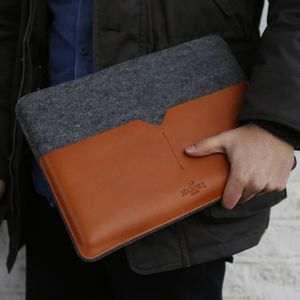 Leather Laptop Case For Macbook - men's travel gifts