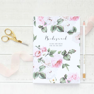 English Garden Bridesmaid Wedding Notebook Planner