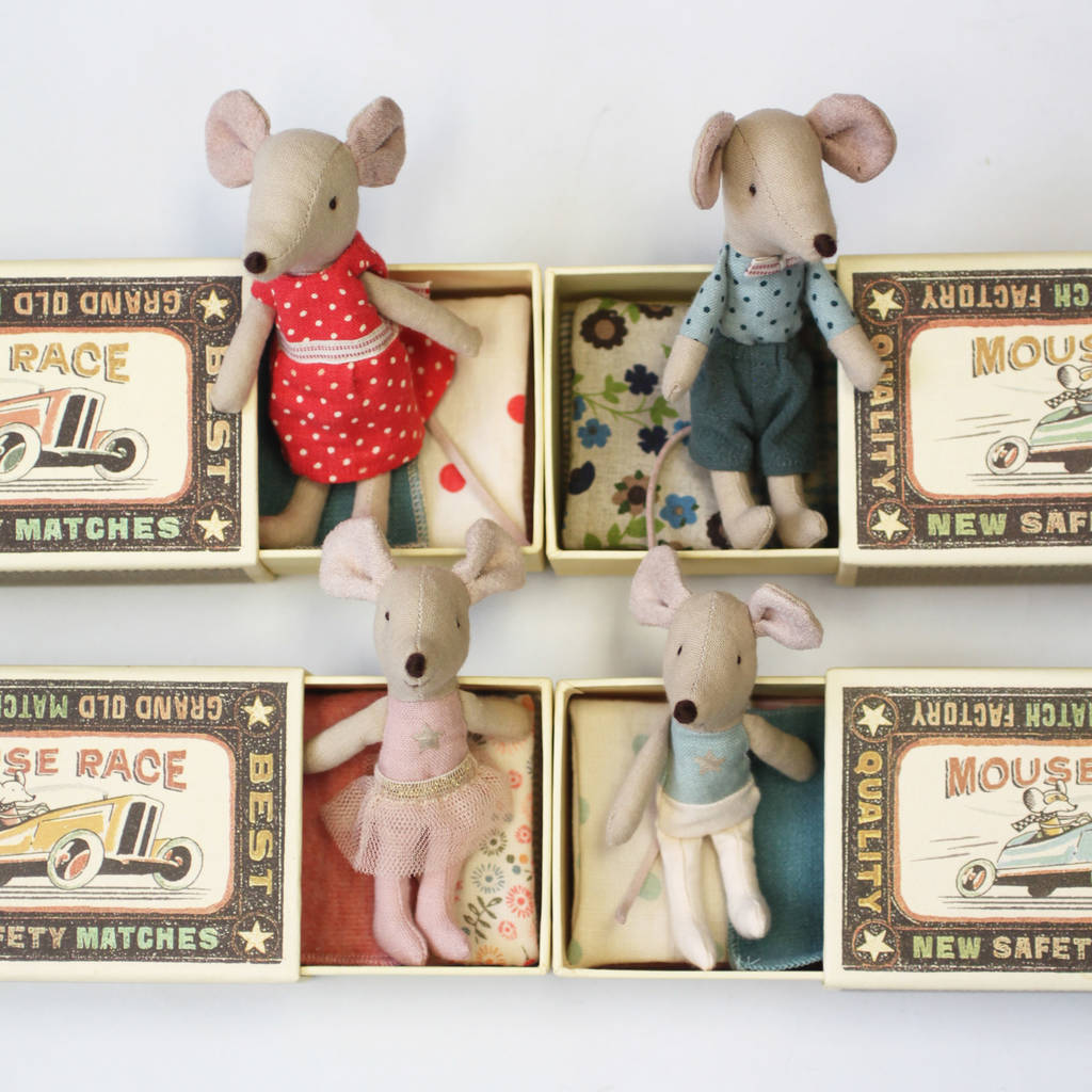 Vintage Style Matchbox Sibling Mouse