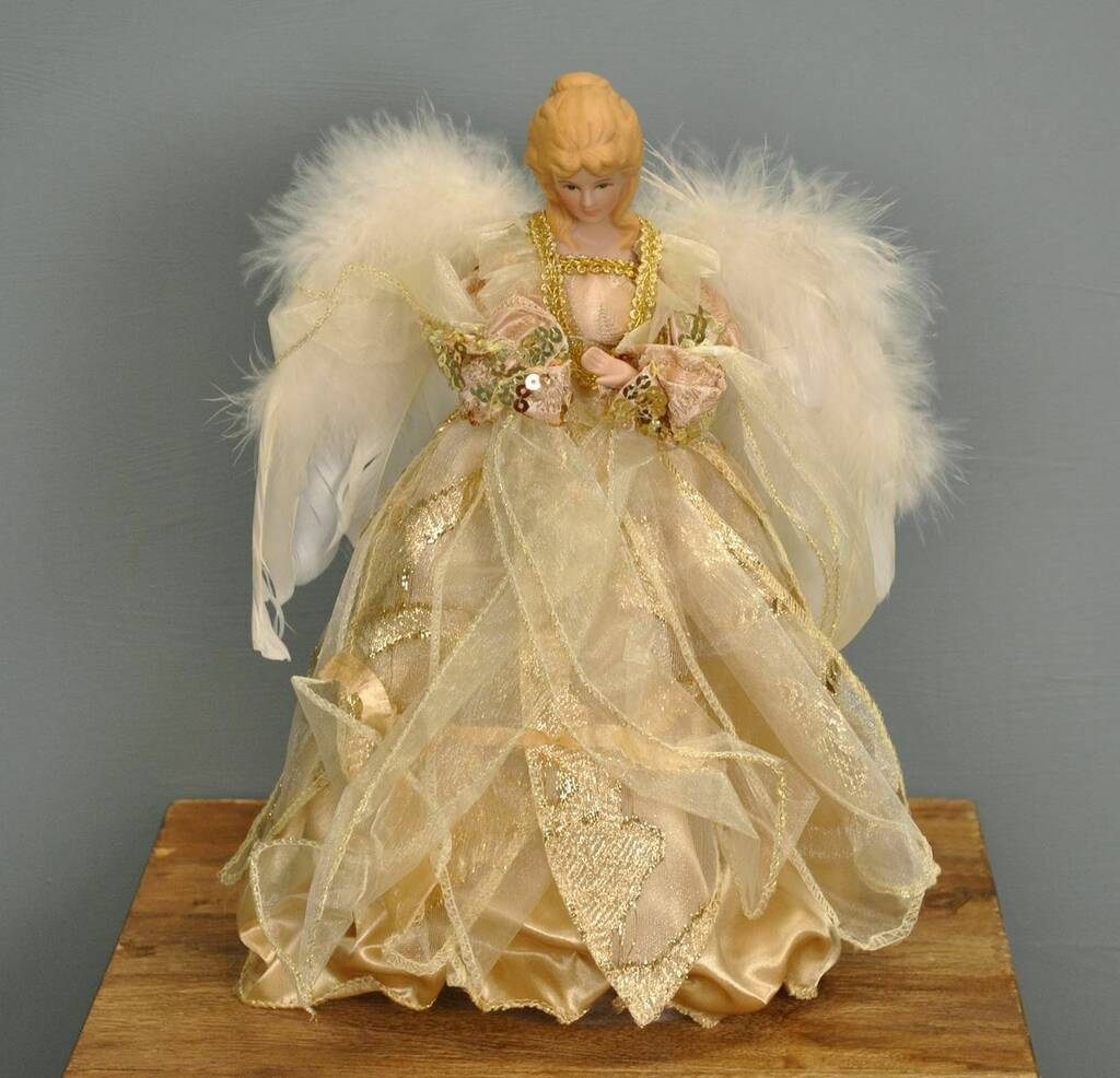 Letter Christmas Tree Topper: Golden Fairy Christmas Tree Topper By Garden Selections