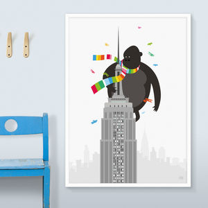 Striped Kong Print - children's room