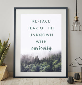 Contemporary Landscape Quote Print