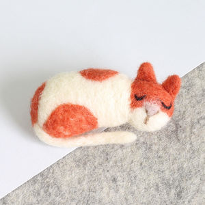 Cat Brooch Needle Felting Kit - sewing & knitting
