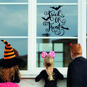 Trick Or Treat Halloween Decoration Wall Sticker - party decorations