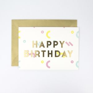 Happy Birthday Confetti Card - shop by category