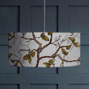 Inky Branches And Leaves Lampshade - lamp bases & shades