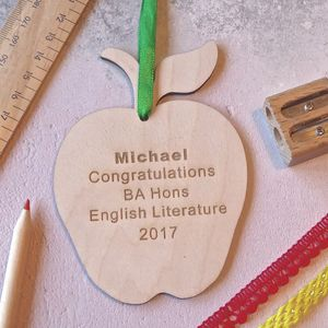 Personalised Graduation Apple - cards & wrap sale