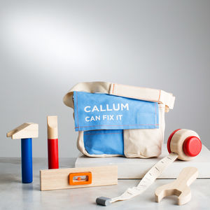 Personalised Wooden Tool Belt Toy