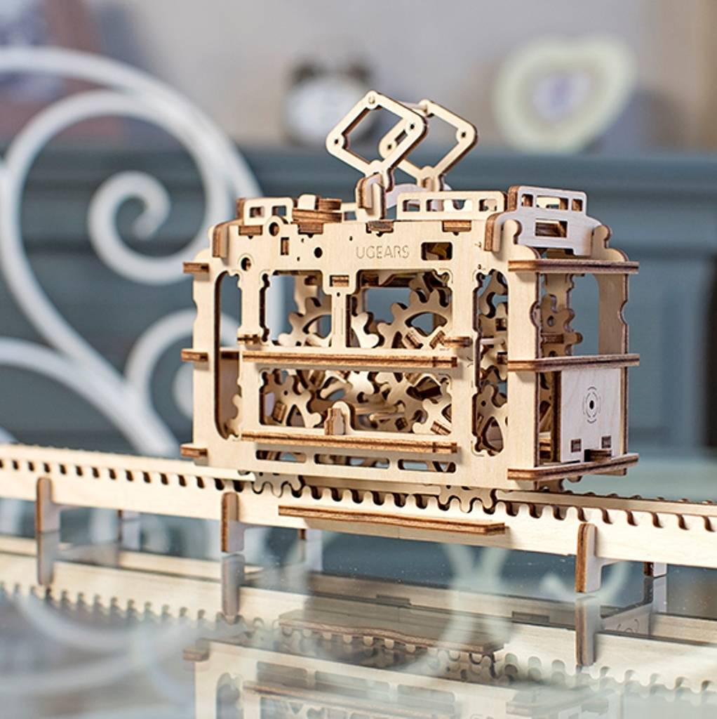 Mechanical Tram Self Assembly Kit Ugears
