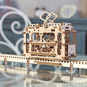 Mechanical Tram Self Assembly Kit Ugears - toys & games for adults