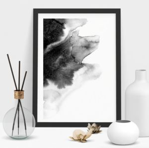 Abstract Painting In Black And White - modern & abstract