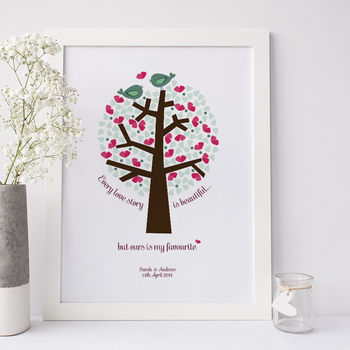 Personalised 'Our Love Story' Print