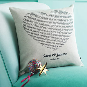 Personalised Song Cushion Cover - gifts for couples