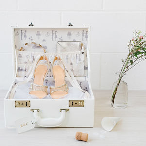 Personalised Wedding Memory Suitcase Keepsake Box - keepsake boxes