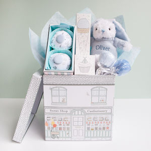 Baby Boy Sweet Treats Hamper, Blue - baby care