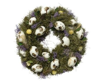 Speckled Egg Springtime Wreath