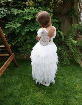 Mae Flower Girl In White|Ivory|Apricot