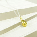 Smooth Teardrop Vermeil Pendant