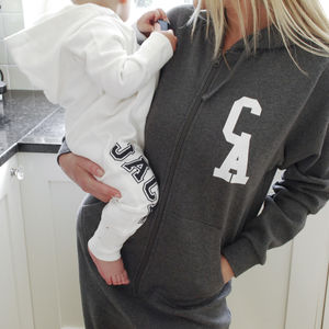 Personalised Monogram Adult Onesie