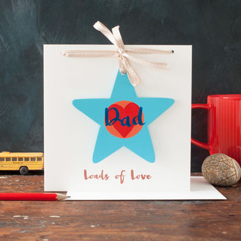 Dad Star On A Card Personalised For Father's Day