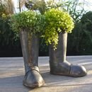 Zinc Wellington Boot Planters