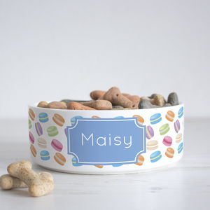 Personalised Macaron Pet Bowl - food, feeding & treats