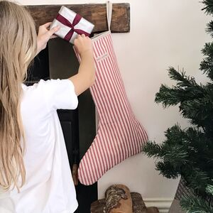 Traditional Ticking Stripe Christmas Stocking