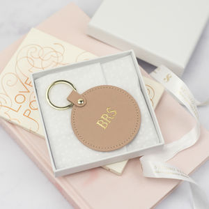 Personalised Leather Initials Keyring