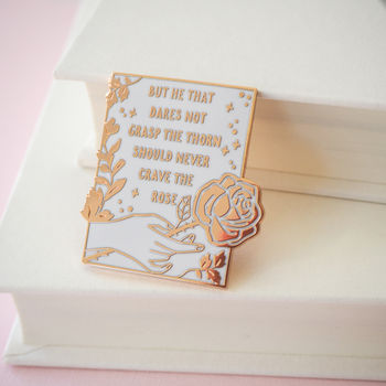 Anne Brontë Enamel Pin Women Poets Collection