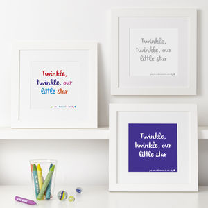 Personalised Quote And Word Prints For Children