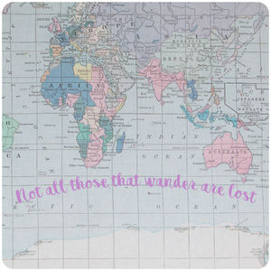 Printed Fabric World Map Noticeboard