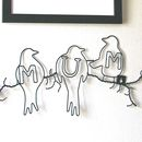 Mum Bird Wire Wall Art